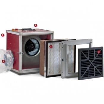 professionele luchtreiniger voorfilter hoofdfilter ventilator pullman ermator A1000