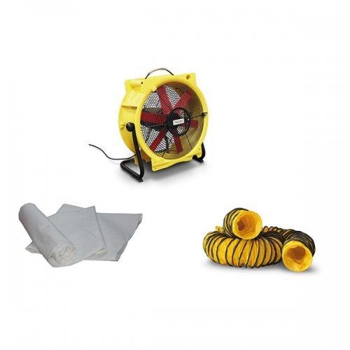 axiaal ventilator met stofzak filter industriële capaciteit 240m³ dryfast TTV4500HP