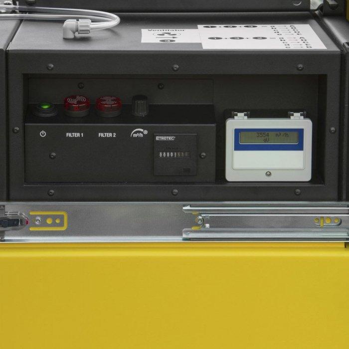 bedieningspaneel en filterverklikkers stofafzuiging voor industrie krachtig model 3000m³ per uur TAC 6500 trotec