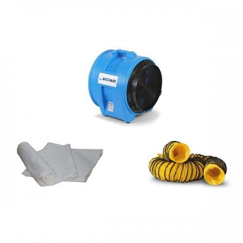 bouw ventilator afzuiging 5250 kubieke meter per uur turbo axiaal ventilator DAF 7500 Dryfast