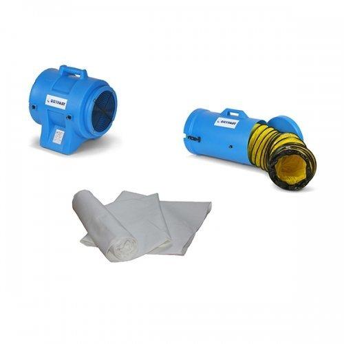 bouwstof zuiger turboventilator kwartsstof afzuiging met stofzak DAF 3900 Dryfast