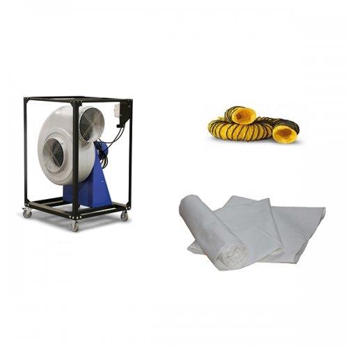 slakkenhuis ventilator industriële afzuiging centrifugaal ventilator 5200m³ per uur TFV300 Dryfast