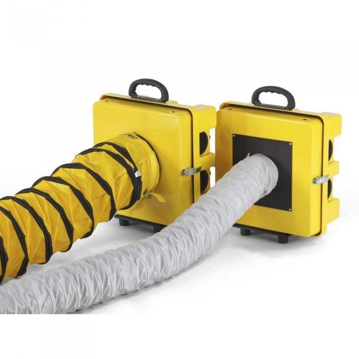 twee soorten luchtslangen voor aanzuiging vuile lucht bouwstof