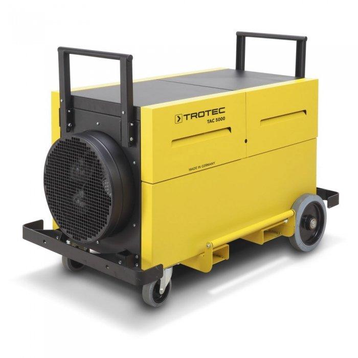 werkplaats stofafzuiging op wielen en vorkheftrucksleuven 2500m³ per uur TAC 5000 trotec