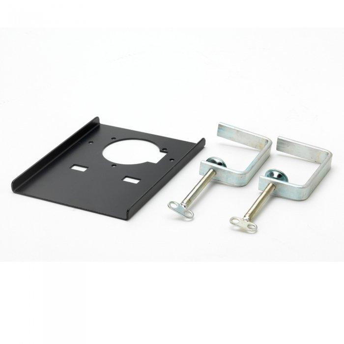 handig te bevestigen tafelbeugels om stay put afzuigarm via verbindingsplaatje aan te bevestigen