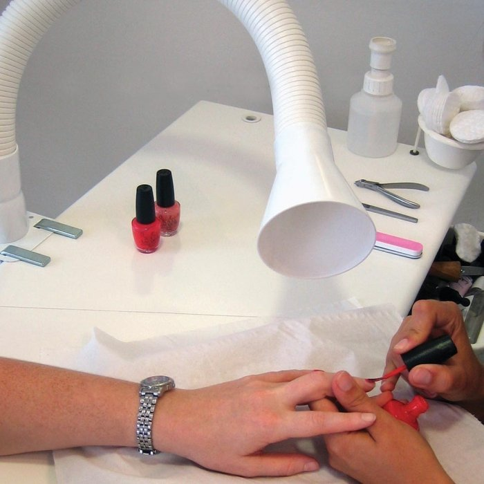 losse bronafzuiging voor nageltafel perfect voor afzuiging schadelijke dampen nagellak