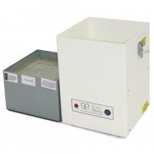 tweedelig filtersysteem in Pure Beauty afzuigsysteem voor nageltafels voorfilter en actieve koolfilter