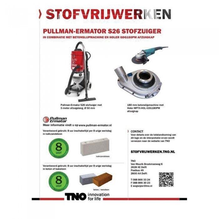 S26 beste bouwstofzuiger voor betonslijpmachine met behulp van afzuigkap holer als koppeling
