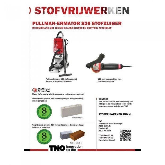 beste bouwstofzuiger voor haakse slijper handgereedschap met behulp van dusttool afzuigkap
