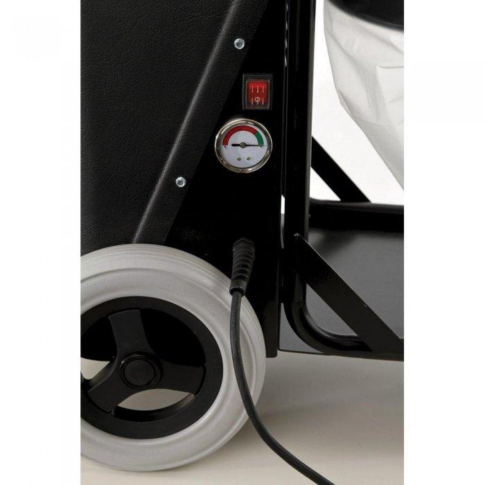 manometer als indicator van filterverzadiging bouwstofzuiger S26 Pullman Ermator